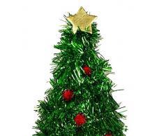 HAAC Gorro Gorro de Papá Noel Papá Noel Navidad árbol de Navidad con Adornos del árbol y Estrella Navidad Navidad