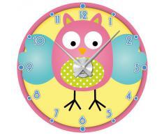 Graz Design - Reloj de pared con adhesivo decorativo para dormitorio infantil (diseño con búho)