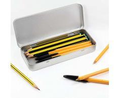 Azeeda 180mm x 75mm 'Candelero' Caja de Almacenamiento / Lata de Metal (TT00037785)