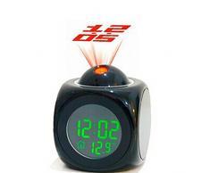 ANKKO Despertadores electrónicos LED mágica Reloj de proyección, Tiempo y exhibición del Temp (Negro)