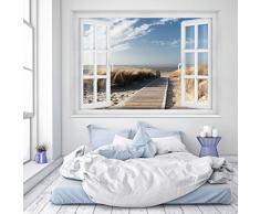 Fotomurales ,,Beach Window 2T1' 127cm x 183cm océano maritimo playa Papel Pintado Fotomural