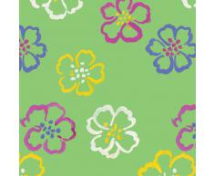 Caspari Entertaining with Caspari - Papel de regalo, diseño de flores, color verde