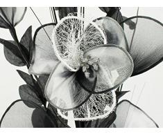 Flourish 724900 E13 - Florero con flor artificial de color blanco y negro, negro, 80 cm, grande