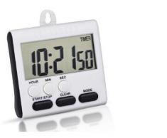 2 pcs Temporizador cocina, WER temporizador de cocina magnético digital con pantalla grande y reloj-función, con el soporte retráctil