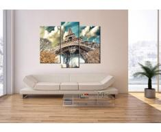 Cuadro sobre lienzo - 3 piezas - Impresión en lienzo - Ancho: 130cm, Altura: 100cm - Foto número 2489 - listo para colgar - en un marco - CB130x100-2489