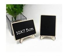 OULII Mini pizarras de rectángulo con soporte para mensajes Junta signos cena partido tabla tarjeta del lugar signos regalos de boda para las madres, pack de 10