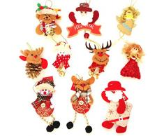 Adornos decoración colgante muñecos para árbol de Navidad 10 unidades diferentes