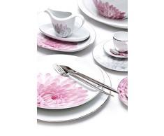 Porcel Sweet Garden Plato Pan, Porcelana, Decorado y Platino, 19 cm
