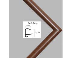 Easy Marco de plástico Para cuadros y pósteres 21x36 cm 36x21 cm Color selecionado: Marrón Con vidrio acrílico