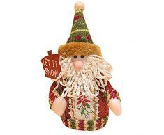 1pcs Decoraciones de Navidad Papá Noel Muñeco de nieve de Papá Noel alce muñeca muñeca de Gadgets de árbol de Navidad adornos de Navidad