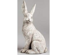 dekojohnson - Figura Decorativa de Conejo de Pascua (30 x 50 cm, Incluye Tarjeta de Regalo)