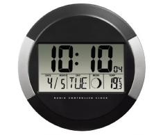 Hama pp-245 - Reloj de pared digital, color negro