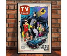 asfrata265 Pintura Sin Marco Batman Serie De Televisión Animada Comic Superhero Show DC Movie Poster Wall Art Picture Poster Y Canvas Prints By-77 (50X60Cm)