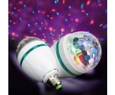 Bola de discoteca luz de discoteca de fiesta disco de DJ LED E27 proyector USB Sound Club Luz