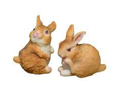 Dasorende Linda Figura de Conejo DecoracióN del Hogar Ornamento de Resina de Hadas de Conejito de JardíN Regalo de DecoracióN de Micropaisaje de Pascua