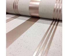 Fine Décor FD42205 Papel pintado de rayas de cuarzo, oro rosa