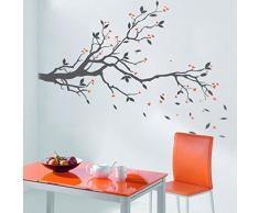 Pegatinas de pared, adhesivos árboles, vinilo decorativo Árbol 133*64 CM