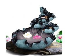 PRIDE S Flujo de la sala de estar de la decoración Feng Shui artes de la resina casa redonda humectantes fuente ( Color : D )