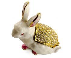 3.5 caja de joyería, esmaltado, figura decorativa de conejo de Pascua