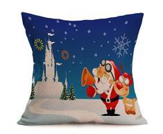 Tongshi Funda de almohada Amortiguador de la cubierta de la historieta de la decoración de Navidad Festival de la funda de almohada (B)