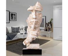 Jzpla Artesanías Ornamentos Entrada De La Sala Ornamentos Inicio Abstracto Personajes Obras De Arte Escultura,WhiteLength13.3×Width12.2×Height35cmB00178a1