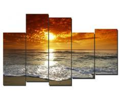 DekoArte - Cuadro moderno en lienzo paisaje playa 150x100cm