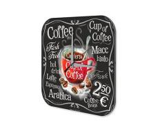 Reloj De Pared Coffee Cafe Bar taza de café Plexiglas Impreso