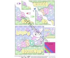 Frith Escultura de Pascua en forma de conejo de Pascua para Marraine niña Felties ondulada por Carol Clarke de ángulo