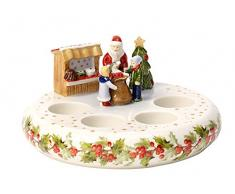 Villeroy Boch & Christmas Toys memoria Corona de Adviento, 24 unidades, porcelana, color blanco, 21,5 x 11 x 21,7 cm