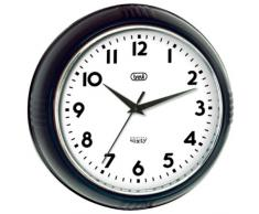 Trevi OM 3314 S - Reloj de pared de diseño retro años 60`s diámetro de 24,5cm, color negro.
