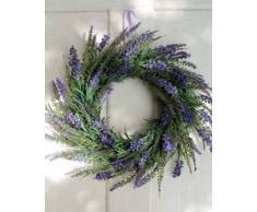Corona de lavanda decorativa, violeta clara, Ø 35 cm - Composición floral / Corona artificial - artplants