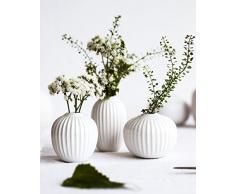 Kähler Hammershøi - Jarrón en Miniatura, cerámica, Blanco, 8 x 9,5 x 2,2 cm
