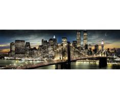 Empire 173232 York - Póster de los rascacielos por la noche (158 x 53 cm)