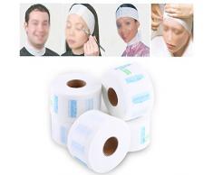 Papel de Cuello, Cuello Guardia Tiras de papel del cuello, cuello de la peluquería Toalla de papel elástico del cuello que cubre para los peluqueros y los barberos o uso del hogar