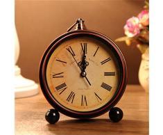 Bluelover Aralm vintage reloj mesa escritorio reloj Retro estilo Rural decoración hogar decoración reloj de pared -1