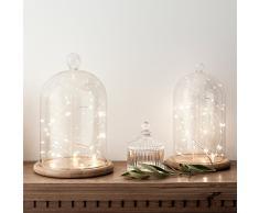 Guirnalda de 20 micro LEDs de luz perlada y cálida de pilas de Lights4fun