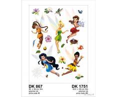 AG Design El diseño de Campanilla Las Hadas de Disney floreciendo Valley Pegatinas Gigante