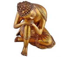 Estatua budista grande Latón Estatua de Buda - Dormir Escultura de descanso de oro