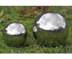 Bola de acero inoxidable decorativa con un diámetro de 13 cm