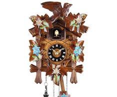 Selva NEGRA uhrenfabrik kammerer reloj de madera con mecanismo de pilas y cuco - oferta de relojes-Park Eble - Eble - Función de 22 cm - 8599001