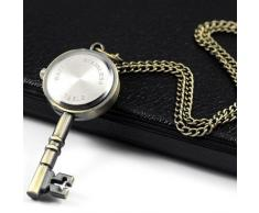 Gleader Reloj de Bosillo Laton Antiguo Diseno de Llave