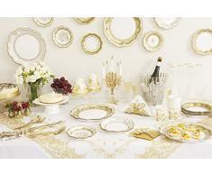 Party Porcelain - Lote de platos desechables (3 diseños, 2 unidades), diseño de platos de porcelana