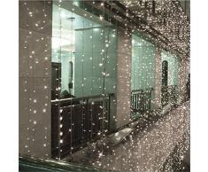10M x 0.65M Con 320 LED cortina de luz / Luz de Navidad Navidad / Decoración / Navidad / hada / partido / festival / Novedad Luz de Navidad al aire libre de hadas cadena boda cortina de luz 8 modos para la opción 220V (Blanco)