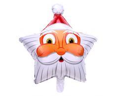 Ruikey Globos de papel de aluminio Navidad muñeco de nieve Santa Tree Kit Ballon de aluminio para la fiesta de Navidad Suministros de decoración Paquete de 4