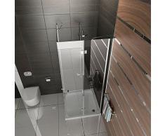 Ducha completamente entrada por la esquina cuadro 100 x 200 cm Alpes Berger cabina de ducha de esquina ducha funshirt puertas puerta easyclea plegable