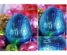 Tarjetas de felicitación de Pascua de velas perfumadas con huevos de Tanya Hall
