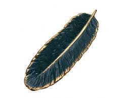 Vosarea Bandeja de cerámica Bandeja de Plato de Hoja de plátano Plato Decorativo