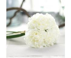 Peonías de seda artificial Winwintom para ramo de novia