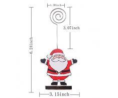 Legendog Soporte de la Tarjeta del Lugar Lindo del Titular de la Tarjeta de la Tabla 8PCS Soporte del Clip de la Imagen para la Navidadsuministros Festivos para Navidad y decoración navideña