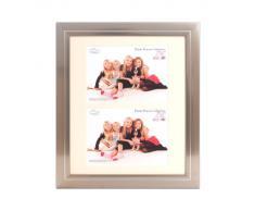 Inov8 - Marco de fotos (peltre, 25 x 30 cm, con doble apertura para 2 fotos de 13 x 18 cm)